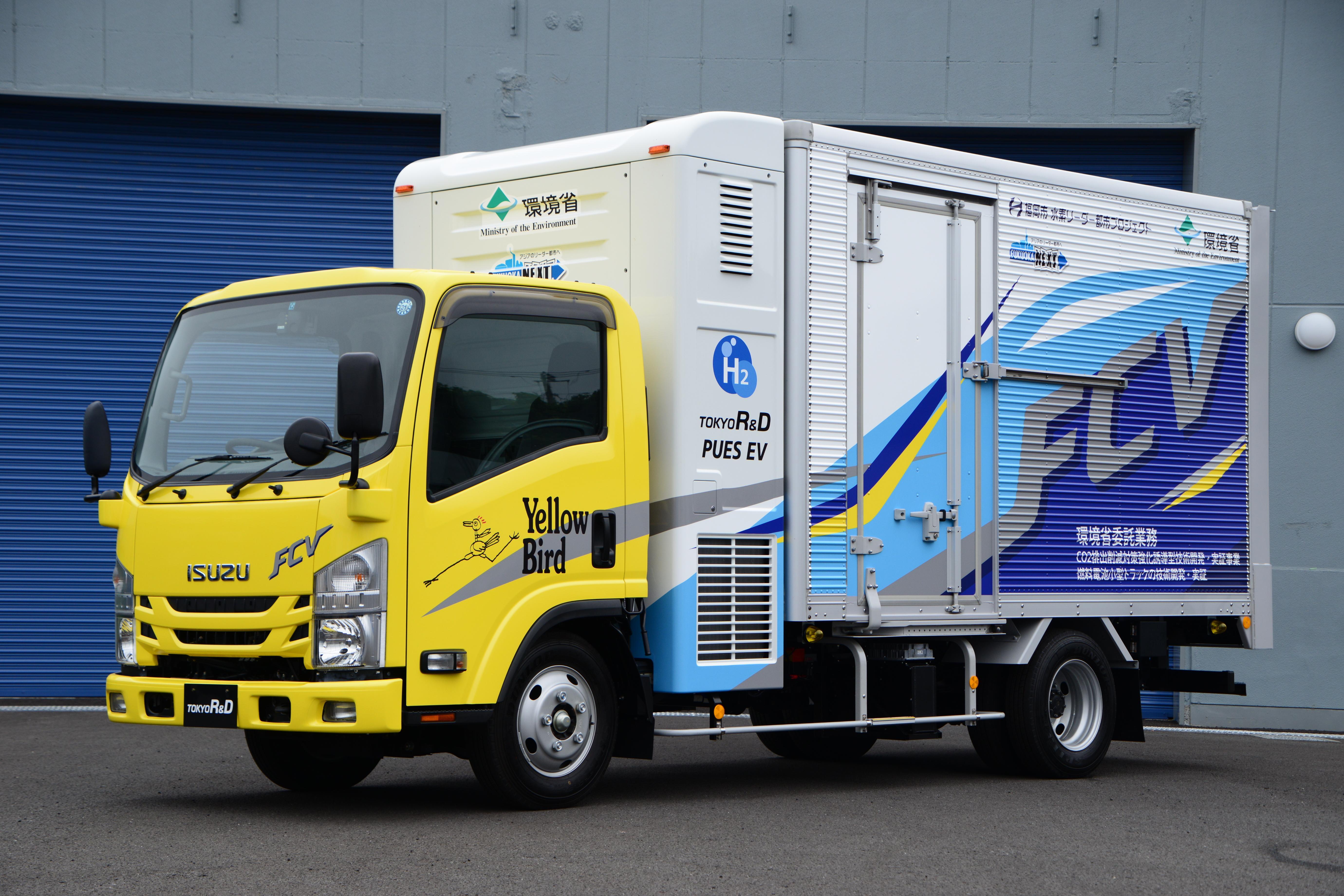 黄色い水素トラック.JPG